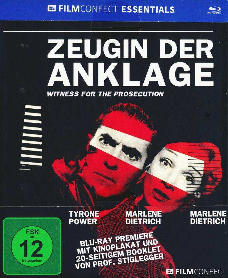 Zeugin der Anklage (1957) (Filmconfect Essentials, s/w, Mediabook)