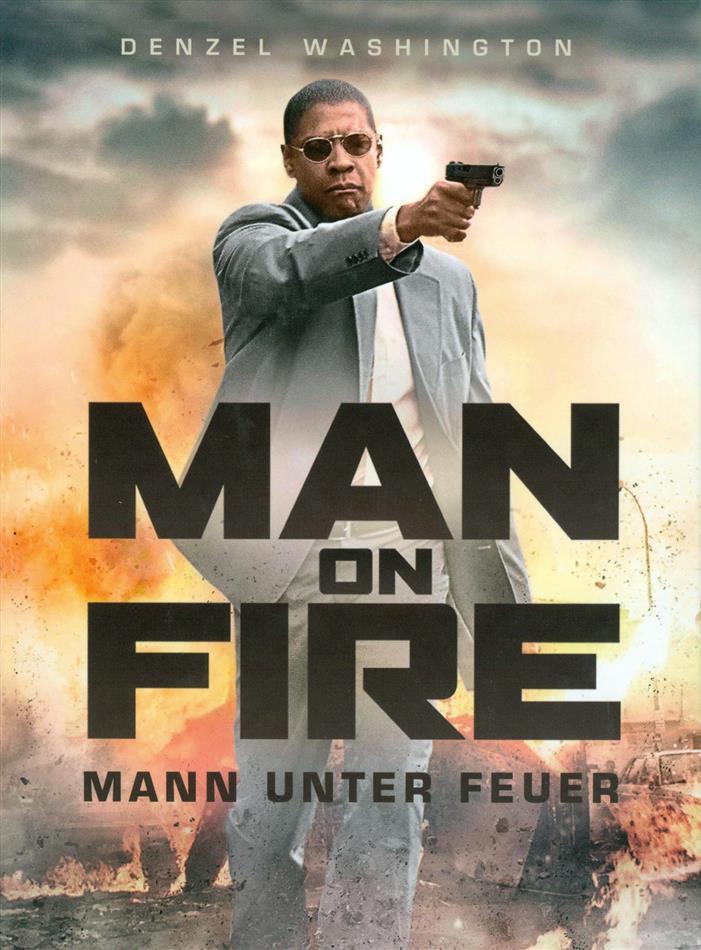 Man on Fire - Mann unter Feuer (2004) (Cover B, Edizione Limitata, Mediabook, Blu-ray + DVD)