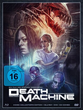 Death Machine (1994) (Digipack, Collector's Edition, Uncut, Blu-ray + DVD + CD)