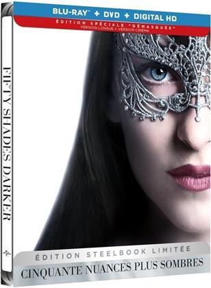 """Cinquante nuances plus sombres (2017) (Édition Spéciale """"Démasquée"""", Kinoversion, Limited Edition, Langfassung, Steelbook, Blu-ray + DVD)"""