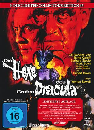 Die Hexe des Grafen Dracula (1968) (Cover A, Collector's Edition, Limited Edition, Mediabook, Uncut, Blu-ray + 2 DVDs)
