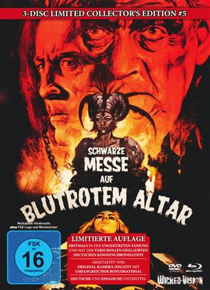 Schwarze Messe auf blutrotem Altar (1968) (Cover C, Limited Collector's Edition, Mediabook, Uncut, Blu-ray + 2 DVDs)