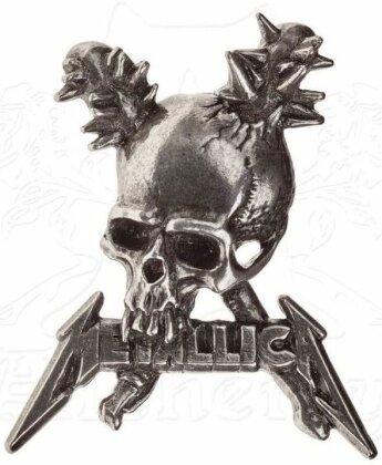 Metallica: Damage Skull - Ansteck-Button