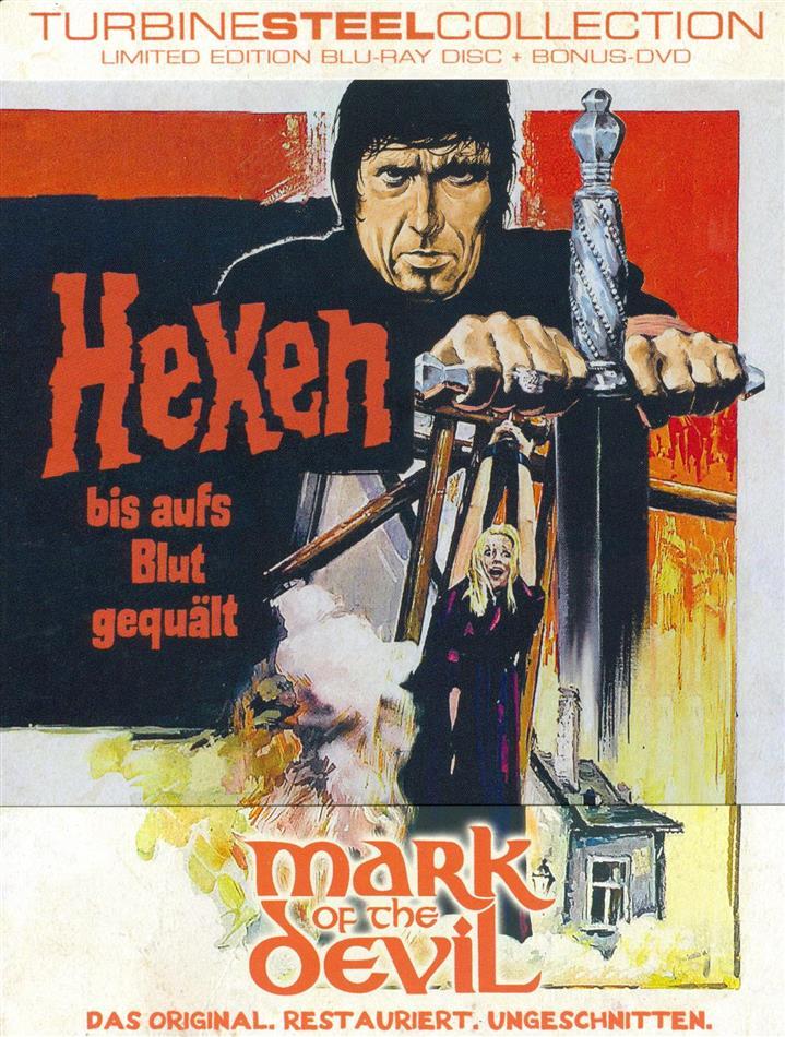 Hexen bis aufs Blut gequält - Mark of the Devil (1970) (FuturePak, Turbine Steel Collection, Limited Edition, Restaurierte Fassung, Uncut, Blu-ray + DVD)