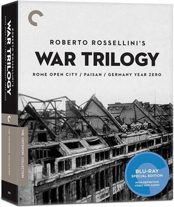 Roberto Rossellini's War Trilogy - Rome Open City / Paisan / Germany Year Zero (Criterion Collection, 3 Blu-ray)