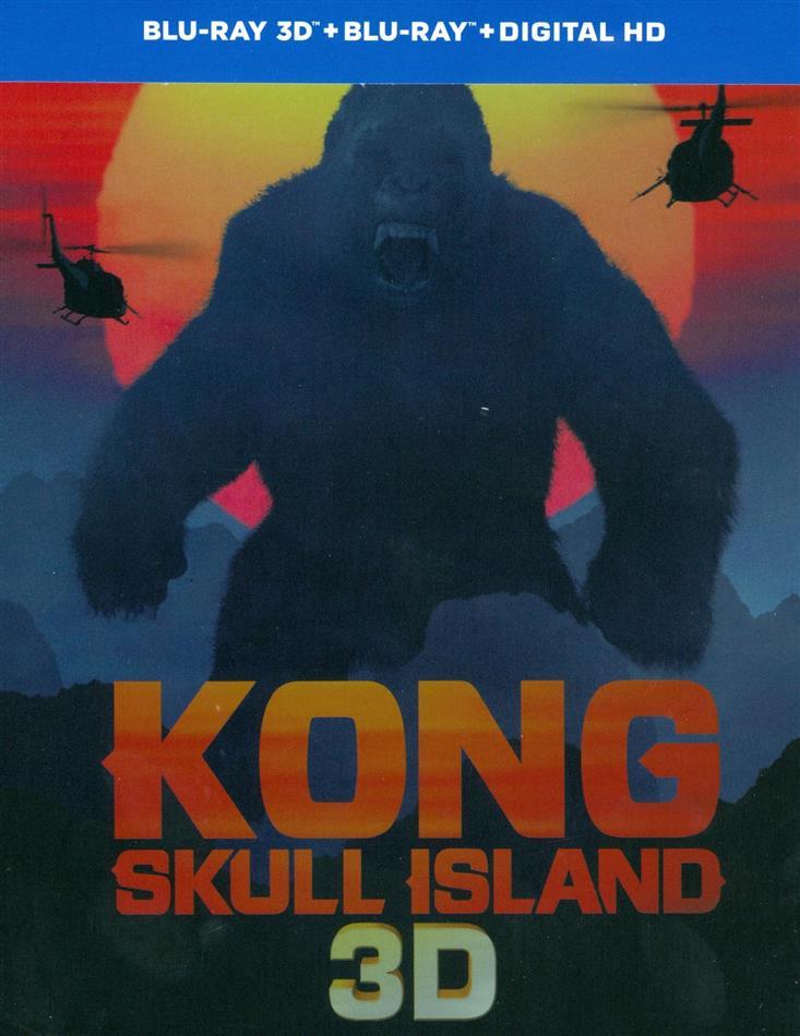 Kong: Skull Island (2017) (Limited Edition, Steelbook, Blu-ray 3D + Blu-ray)