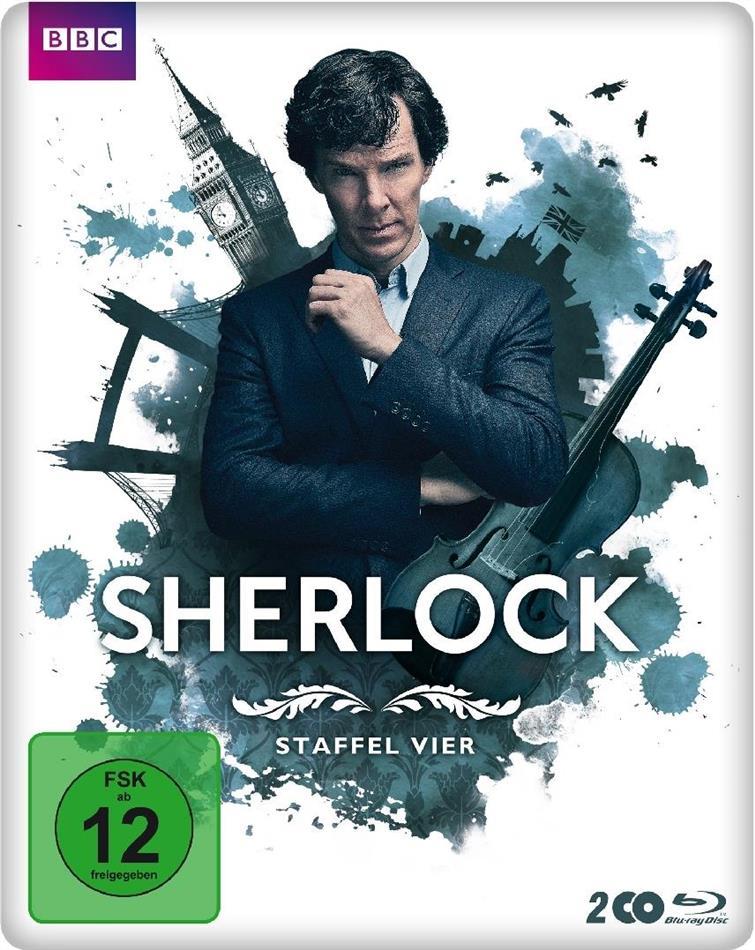 Sherlock - Staffel 4 (BBC, Limited Edition, Steelbook, 2 Blu-rays)