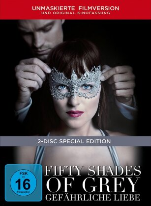 Fifty Shades of Grey 2 - Gefährliche Liebe (2017) (Unmaskierte Filmversion, Extended Edition, Kinoversion, Limited Edition, Mediabook, Special Edition, 2 DVDs)