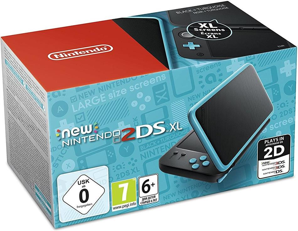 Nintendo 2DS XL Console Black + Turquoise