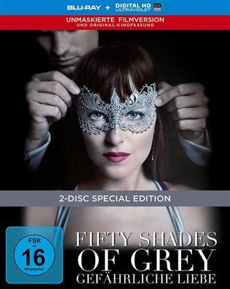 Fifty Shades of Grey 2 - Gefährliche Liebe (2017) (Unmaskierte Filmversion, Extended Edition, Versione Cinema, Edizione Limitata, Mediabook, Edizione Speciale, Blu-ray + DVD)