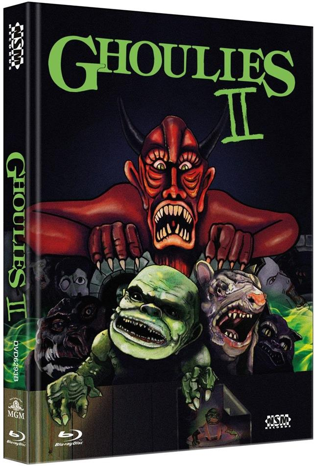Ghoulies 2 (1988) (Cover B, Limited Edition, Mediabook, Uncut, Blu-ray + DVD)