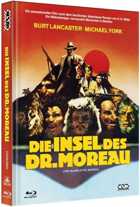 Die Insel des Dr. Moreau (1977) (Cover A, Limited Edition, Mediabook, Uncut, Blu-ray + DVD)