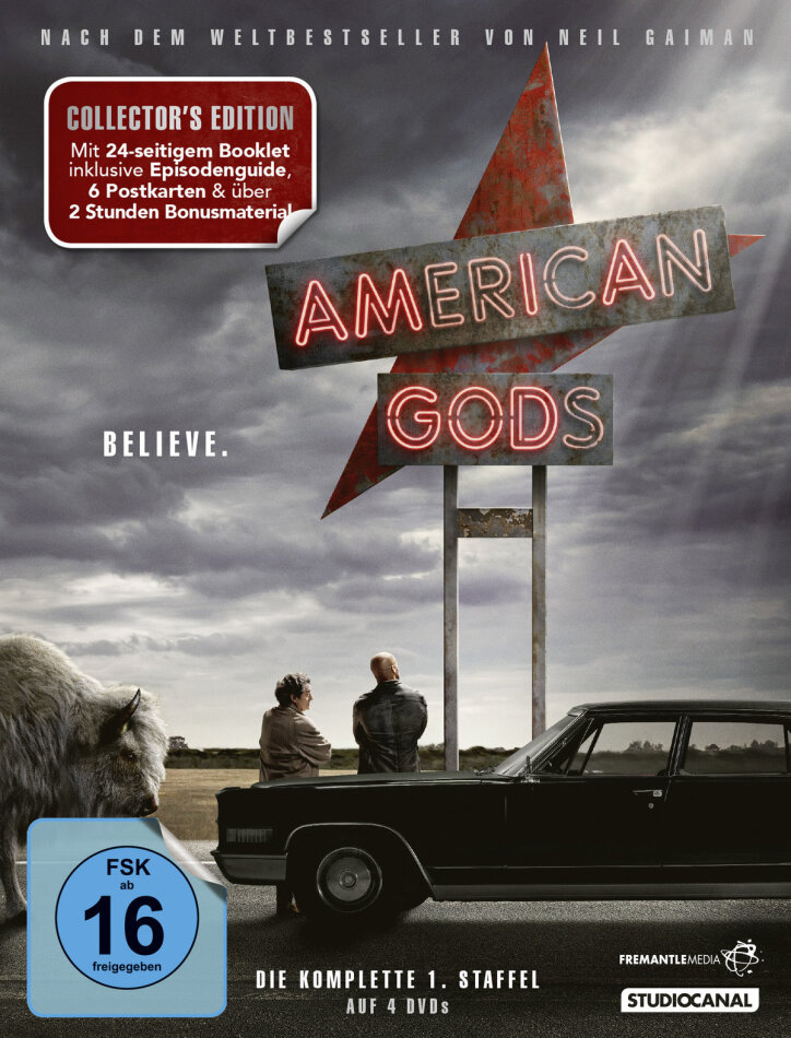 American Gods - Staffel 1 (Collector's Edition, 4 DVDs)