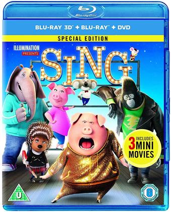 Sing (2016) (Special Edition, Blu-ray 3D (+2D) + Blu-ray + DVD)