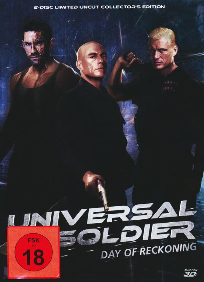 Universal Soldier - Day of Reckoning (2012) (Cover A, Collector's Edition, Edizione Limitata, Mediabook, Uncut, Blu-ray 3D (+2D) + DVD)