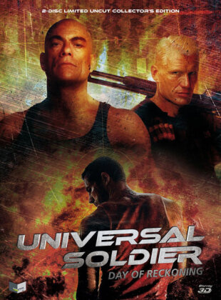 Universal Soldier - Day of Reckoning (2012) (Cover B, Collector's Edition, Limited Edition, Mediabook, Uncut, Blu-ray 3D (+2D) + DVD)