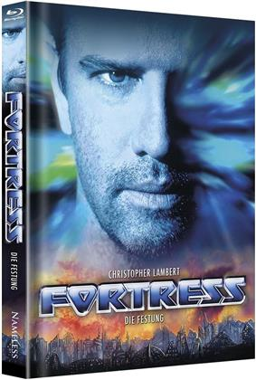 Fortress - Die Festung (1992) (Cover B, Limited Edition, Mediabook, Uncut, Unrated, Blu-ray + DVD)