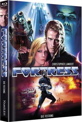 Fortress - Die Festung (1992) (Cover C, Limited Edition, Mediabook, Uncut, Unrated, Blu-ray + DVD)