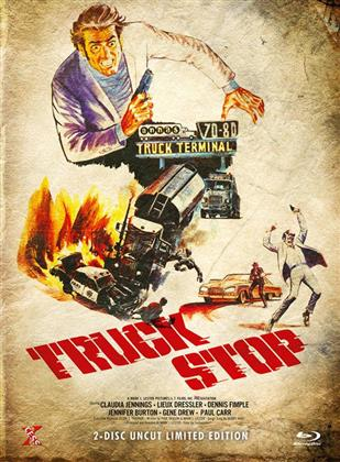 Truck Stop (1974) (Cover B, Limited Edition, Mediabook, Uncut, Blu-ray + DVD)