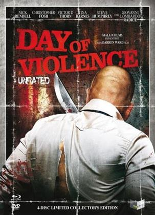 Day of Violence (2010) (Digipack, Cover B, Collector's Edition, Edizione Limitata, Uncut, Unrated, Blu-ray + 3 DVD)