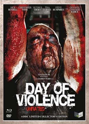 Day of Violence (2010) (Digipack, Cover C, Collector's Edition, Edizione Limitata, Uncut, Unrated, Blu-ray + 3 DVD)