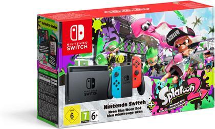 Nintendo Switch-Konsole Neon-Blau / Neon-Rot + Splatoon 2 (Édition Limitée)