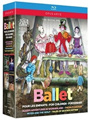 Royal Ballet, … - Ballet for Children - Nutcracker / Peter and the Wolf / Alice's Adventures in Wonderland / Tales of Beatrix Potter (Opus Arte, 4 Blu-rays)