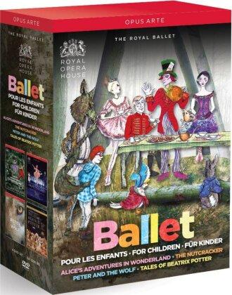 Royal Ballet, … - Ballet for Children - Nutcracker / Peter and the Wolf / Alice's Adventures in Wonderland / Tales of Beatrix Potter (Opus Arte, 4 DVDs)