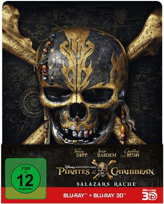 Pirates of the Caribbean 5 - Salazars Rache (2017) (Edizione Limitata, Steelbook, Blu-ray 3D + Blu-ray)