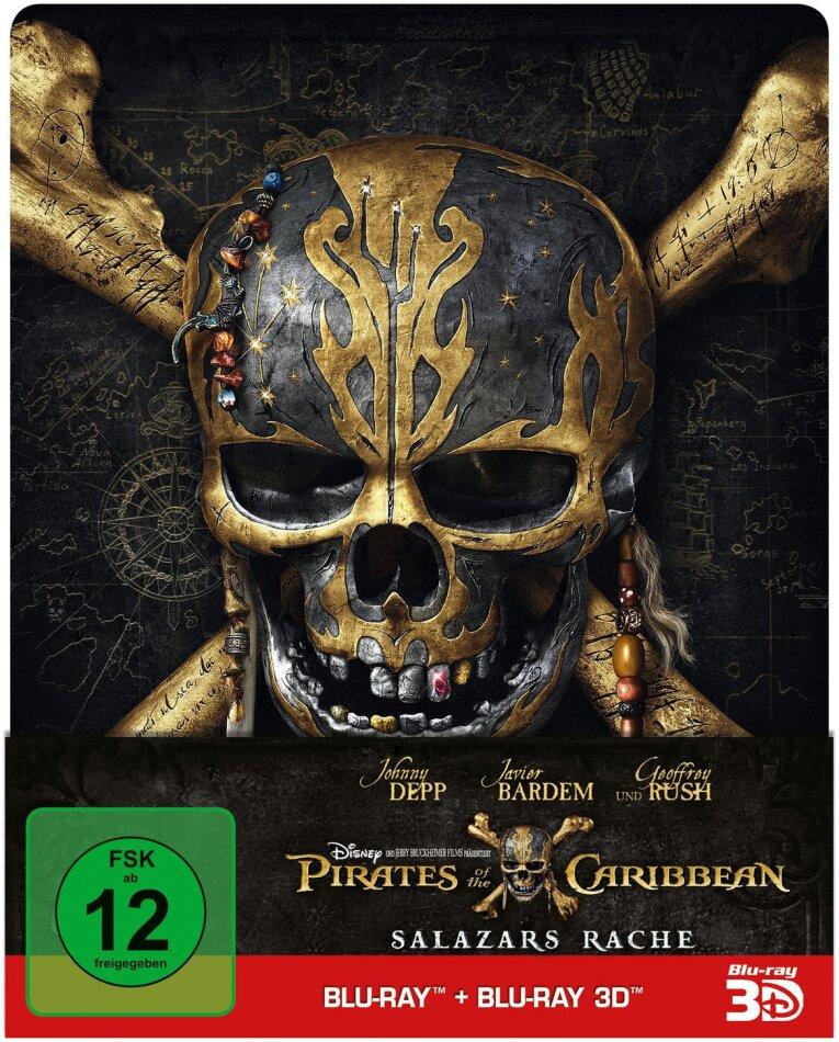 Pirates of the Caribbean 5 - Salazars Rache (2017) (Edizione Limitata, Steelbook, Blu-ray 3D + Blu-ray)