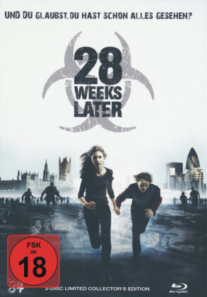 28 Weeks Later (2007) (Cover B, Limited Collector's Edition, Mediabook, Uncut, Blu-ray + DVD)