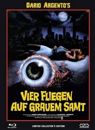 Vier Fliegen auf grauem Samt (1971) (Cover C, Collector's Edition, Limited Edition, Mediabook, Uncut, Blu-ray + 2 DVDs)