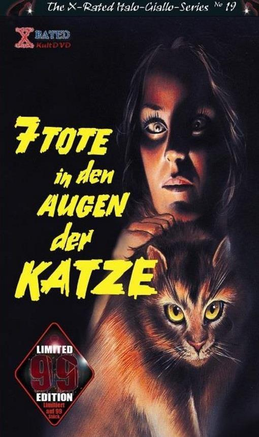 7 Tote in den Augen der Katze (1973) (Grosse Hartbox, The X-Rated Italo-Giallo-Series, Edizione Limitata, Uncut)