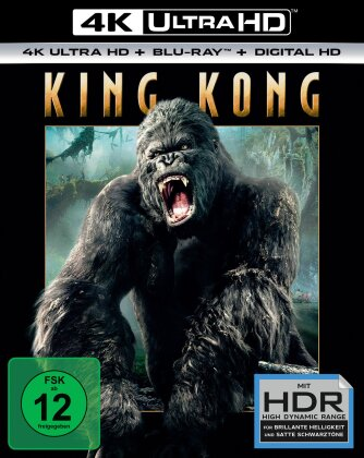 King Kong (2005) (Extended Edition, Versione Cinema, 4K Ultra HD + Blu-ray)