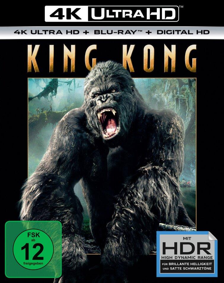 King Kong (2005) (Extended Edition, Kinoversion, 4K Ultra HD + Blu-ray)