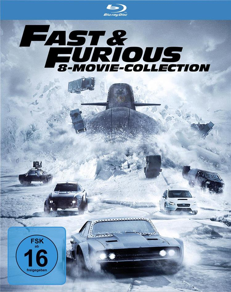 Fast & Furious 1-8 - 8-Movie Collection (8 Blu-rays)