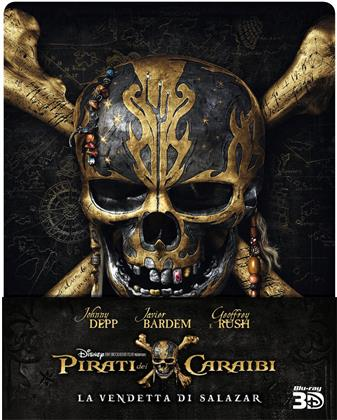 Pirati dei Caraibi 5 - La vendetta di Salazar (2017) (Limited Edition, Steelbook, Blu-ray 3D + Blu-ray)
