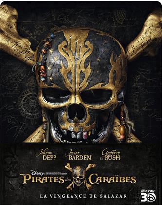 Pirates des Caraïbes 5 - La Vengeance de Salazar (2017) (Edizione Limitata, Steelbook, Blu-ray 3D + Blu-ray)