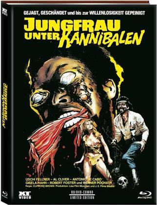 Jungfrau unter Kannibalen (1980) (Cover B, Limited Edition, Mediabook, Uncut, Blu-ray + DVD)