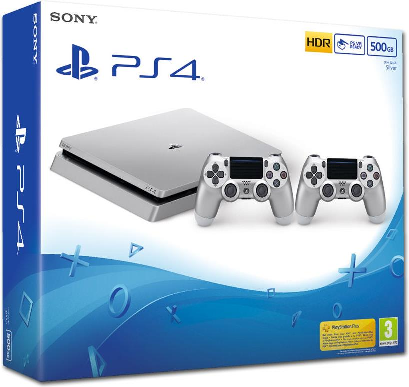 Sony Playstation 4 500GB SLIM silver + 2. Controller