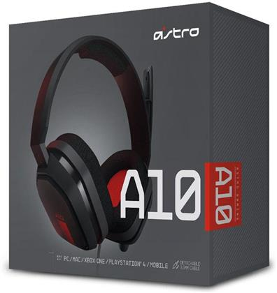 Astro Gaming A10 Headset (PC, MAC, PS4, Xbox One, Mobile) - Grey/Red