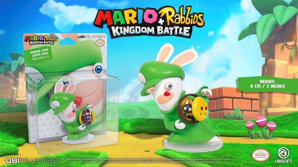 Figur Mario & Rabbids - Rabbid Luigi 6inch