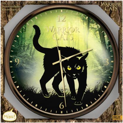 Warrior Cats - Wanduhr mit Katzenlauten