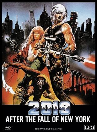 2019 - After the fall of New York (1983) (Cover B, Edizione Limitata, Mediabook, Uncut, Blu-ray + DVD)