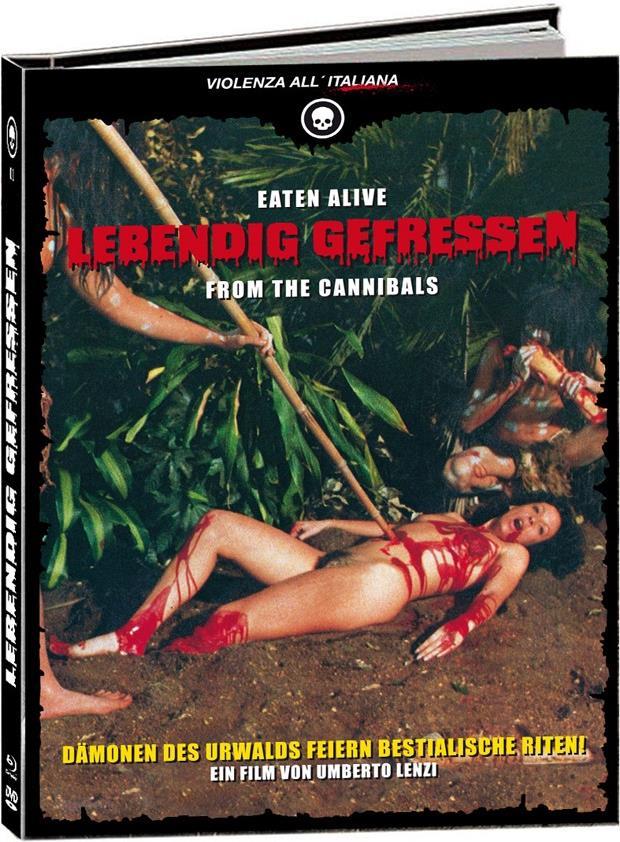 Lebendig Gefressen (1980) (Cover C, Limited Edition, Mediabook, Blu-ray + 2 DVDs + CD)