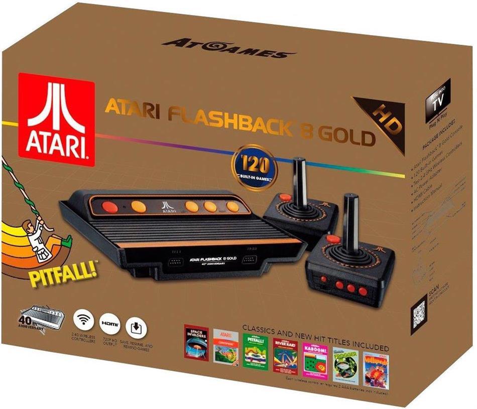 Atari Flashback 8 HD Gold Retro Console (120 Games)