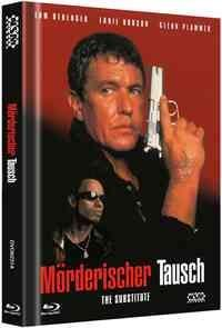 Mörderischer Tausch - The Substitute (1996) (Cover A, Limited Edition, Mediabook, Uncut, Blu-ray + DVD)
