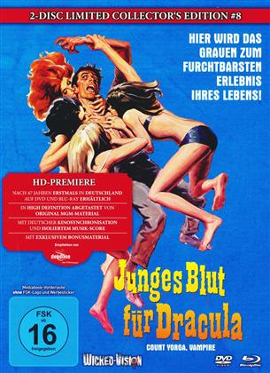 Junges Blut für Dracula - Count Yorga, Vampire (1970) (Cover A, Collector's Edition, Limited Edition, Mediabook, Uncut, Blu-ray + DVD)