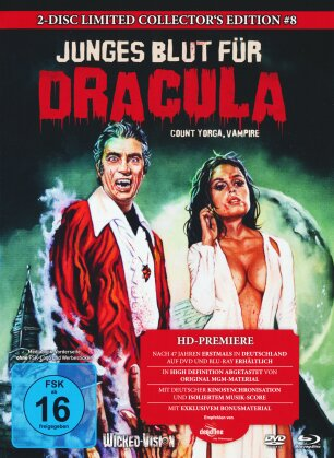 Junges Blut für Dracula - Count Yorga, Vampire (1970) (Cover B, Collector's Edition, Limited Edition, Mediabook, Uncut, Blu-ray + DVD)