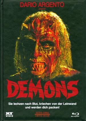 Demons (1985) (Cover B, Limited Edition, Mediabook, Remastered, Special Edition, Uncut, Blu-ray + DVD)